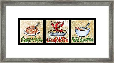 Cajun Food Trio Framed Print