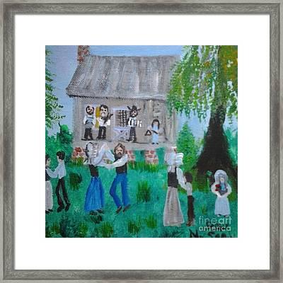 Cajun House Dance Framed Print by Seaux-N-Seau Soileau