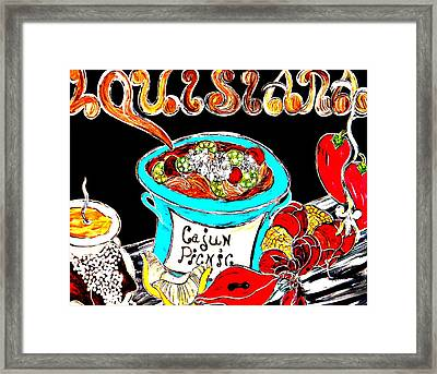 Cajun Picnic No.2 Framed Print by Amy Carruth-Drum