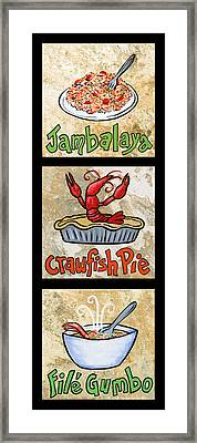 Cajun Trio Black Framed Print