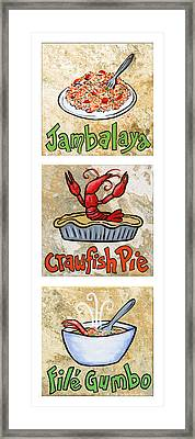 Cajun Trio White Framed Print