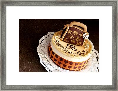 Cake Description Framed Print by Heike Hultsch