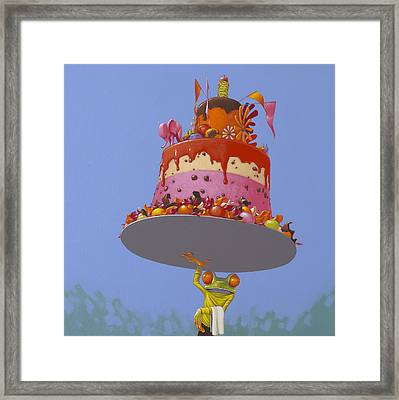 Cake Framed Print by Jasper Oostland