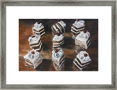 Cake Framed Print by Nik Helbig