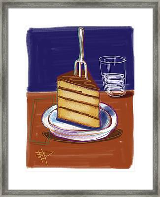 Cake Framed Print by Russell Pierce