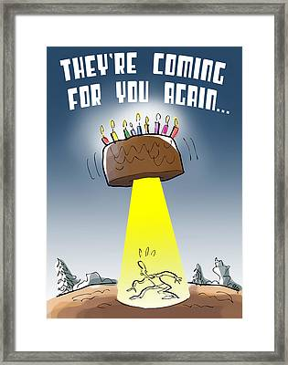 Cake Spaceship Framed Print
