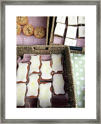 Cakes At The Market Framed Print by Tom Gowanlock