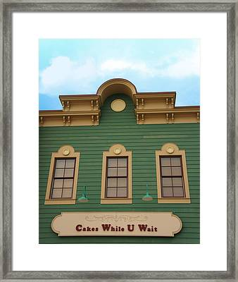 Cakes While U Wait Framed Print by Art Spectrum