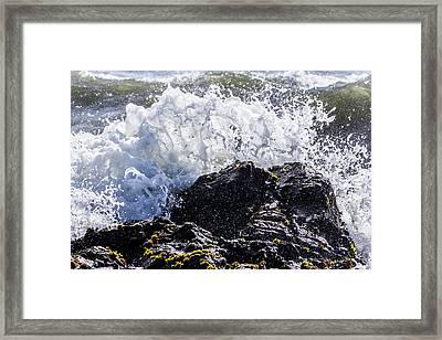 Cal Coast Wave Crash 4 Framed Print