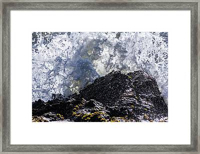 California Coast Wave Crash 5 Framed Print