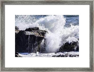 Cal Coast Wave Crash 6 Framed Print