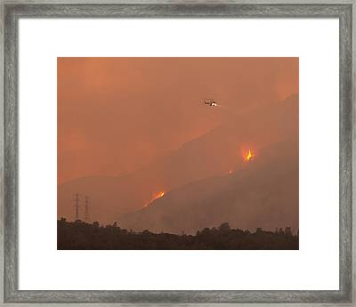 Cal Fire Copter 406 Curry Canyon Ca Framed Print
