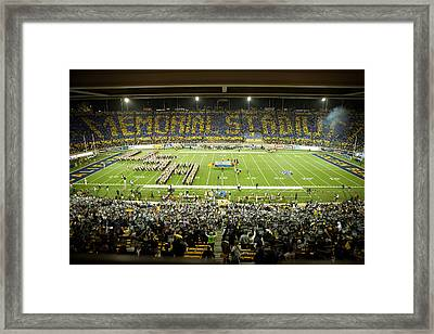 Cal Memorial Stadium On Game Day Framed Print by Replay Photos