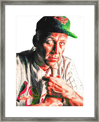 Cal Ripken Jr Digitally Painted 3 Framed Print by David Haskett