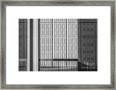 Cal State Northridge Oviatt Library Detail  Framed Print