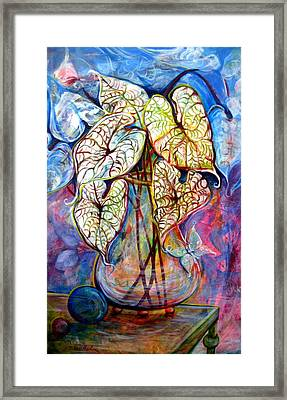 Caladium Glass Creation Framed Print