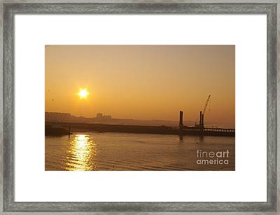 Calais Harbour Framed Print by Catja Pafort