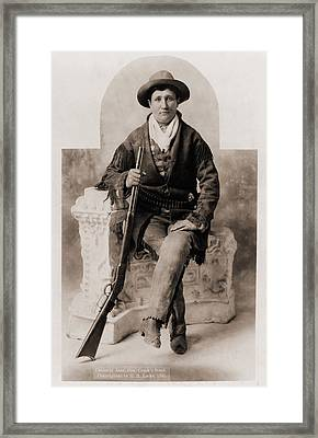 Calamity Jane 1852-1903, Was A Scout Framed Print by Everett