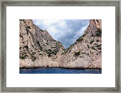 Calanque Art Framed Print by Olivier Le Queinec
