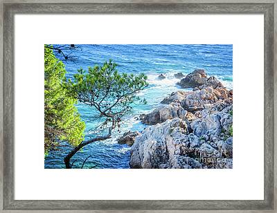 Calanque Framed Print by Delphimages Photo Creations