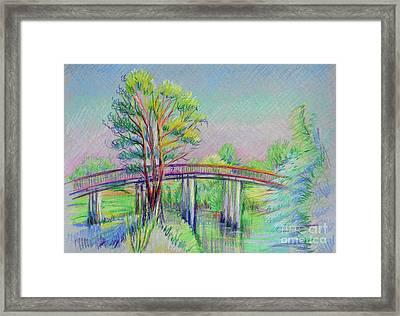 Calaveras Canal Bridge Framed Print by Vanessa Hadady BFA MA
