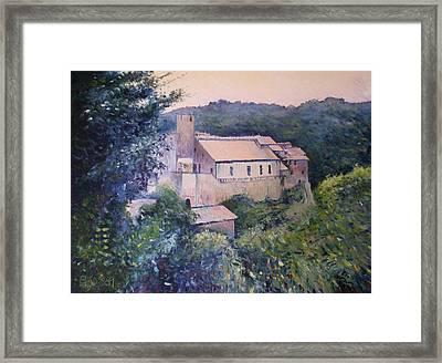 Calcata Lazio Italy 2009 Framed Print by Enver Larney