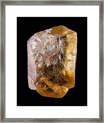Calcite Crystal 2 Framed Print by Jim Hughes