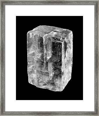Calcite Crystal Framed Print by Jim Hughes