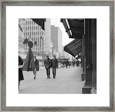 Calder Sculpture On Nicollet Mal Framed Print