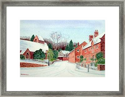 'caldy Village In Winter', Wirral Framed Print by Peter Farrow