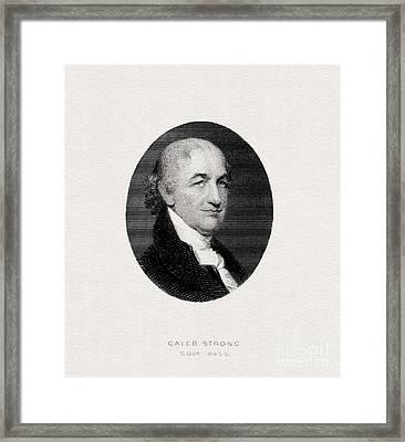 Caleb Strong, Engraved Portrait Framed Print