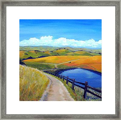 Calero Pond Framed Print by Stephanie  Maclean