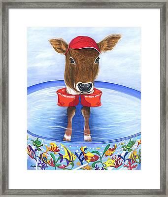 Calf Days Of Summer Framed Print by Twyla Francois