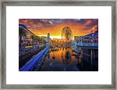 Calfornia Sunset Framed Print