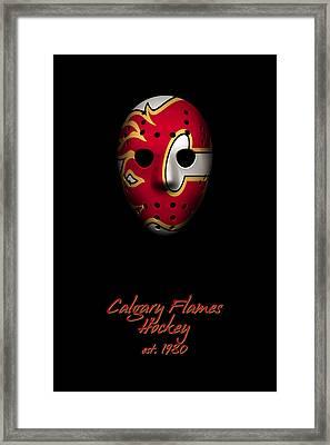 Calgary Flames Established Framed Print by Joe Hamilton