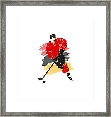 Calgary Flames Player Shirt Framed Print by Joe Hamilton