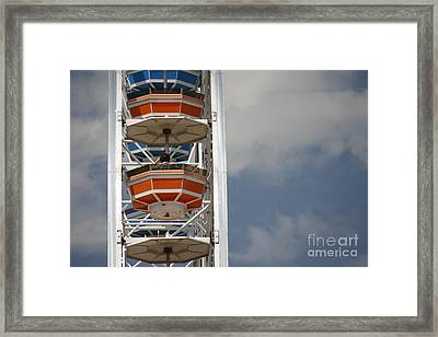 Framed Print featuring the photograph Calgary Stampede Ferris Wheel by Wilko Van de Kamp