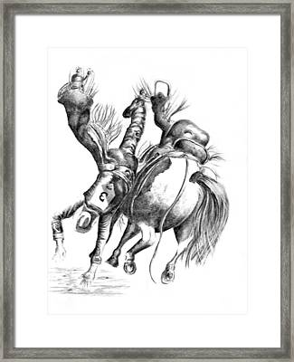 Calgary Stampede Framed Print by Paul Sandilands