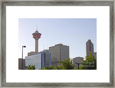 Calgary Tower 3 Framed Print by Donna Munro
