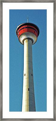Calgary Tower Framed Print by Juergen Weiss