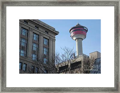 Framed Print featuring the photograph Calgary Tower by Wilko Van de Kamp