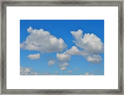Framed Print featuring the photograph Calgary's Sky by Evelina Popilian