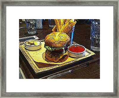 Cali Burger With Fries Framed Print
