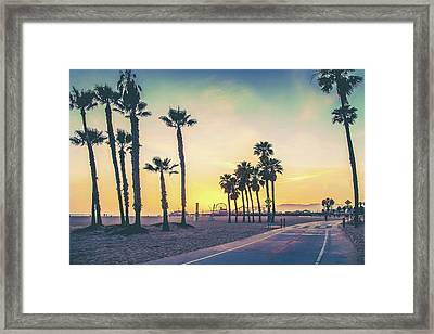 Framed Print featuring the photograph Cali Sunset by Az Jackson
