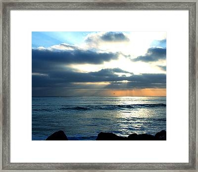 Cali Sunset Framed Print