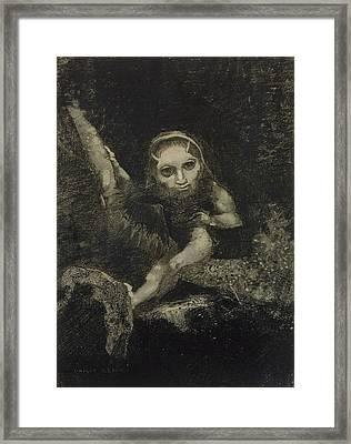 Caliban Framed Print by Odilon Redon
