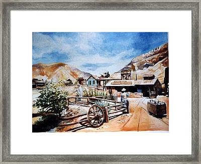 Framed Print featuring the painting Calico  2-usa by Paul Weerasekera
