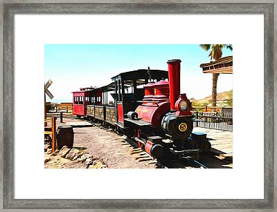 Calico And Odessa Rail Road Framed Print