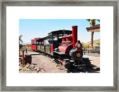 Calico And Odessa Rail Road Photo Framed Print