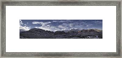 Framed Print featuring the photograph Calico Basin Panorama by Ryan Smith